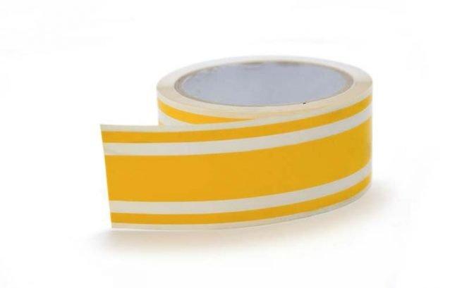 Yellow Triple Boat Stripes 40mm