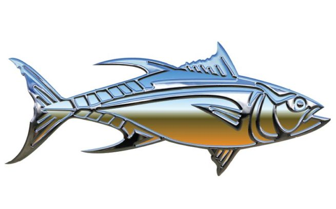 Chrome Tuna Fish Graphics