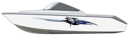 Megalodon Boat Graphics
