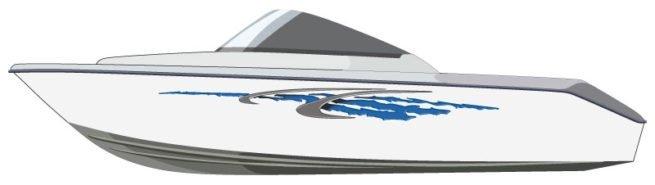 Ocean Rip Boat Graphics