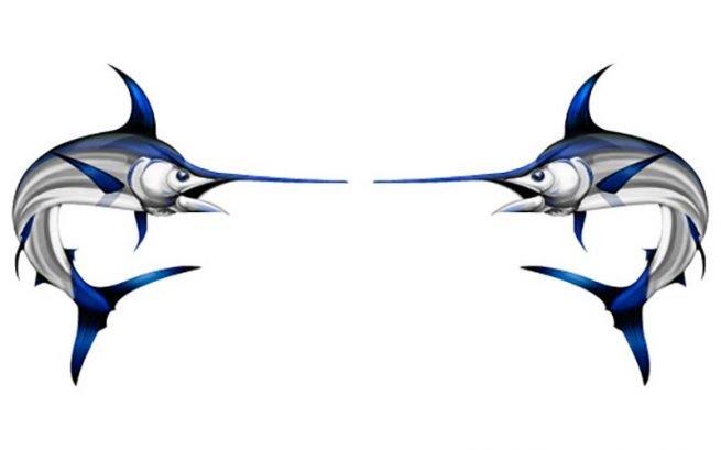 Swordfish Fish Graphics Set